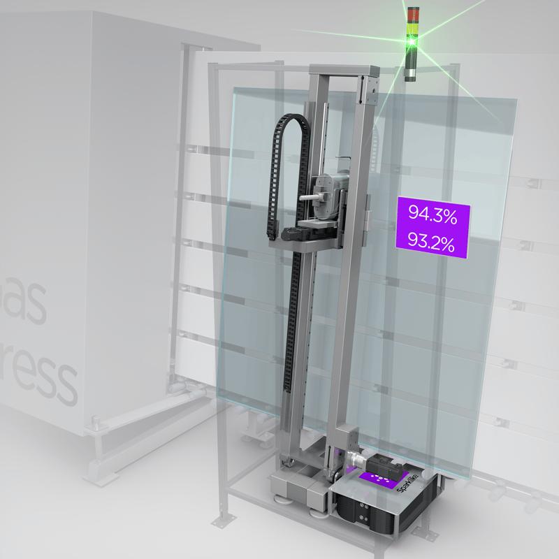 Sparklike Online™ - IG-line integrated and  non-destructive turnkey system for argon measurement