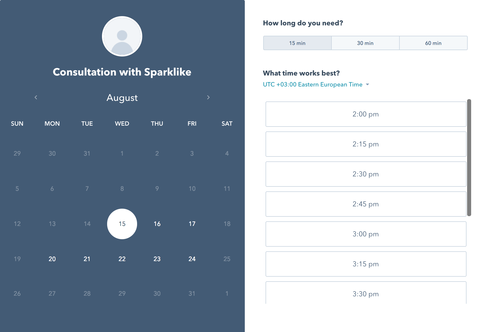 Book a free consultation with one of Sparklike Specialists