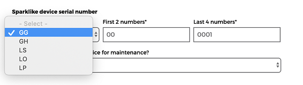 Fill in the form  with your Sparklike device serial number for annual on-demand calibration and maintenance