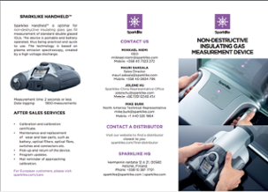 Leaflet for Sparklike Handheld device